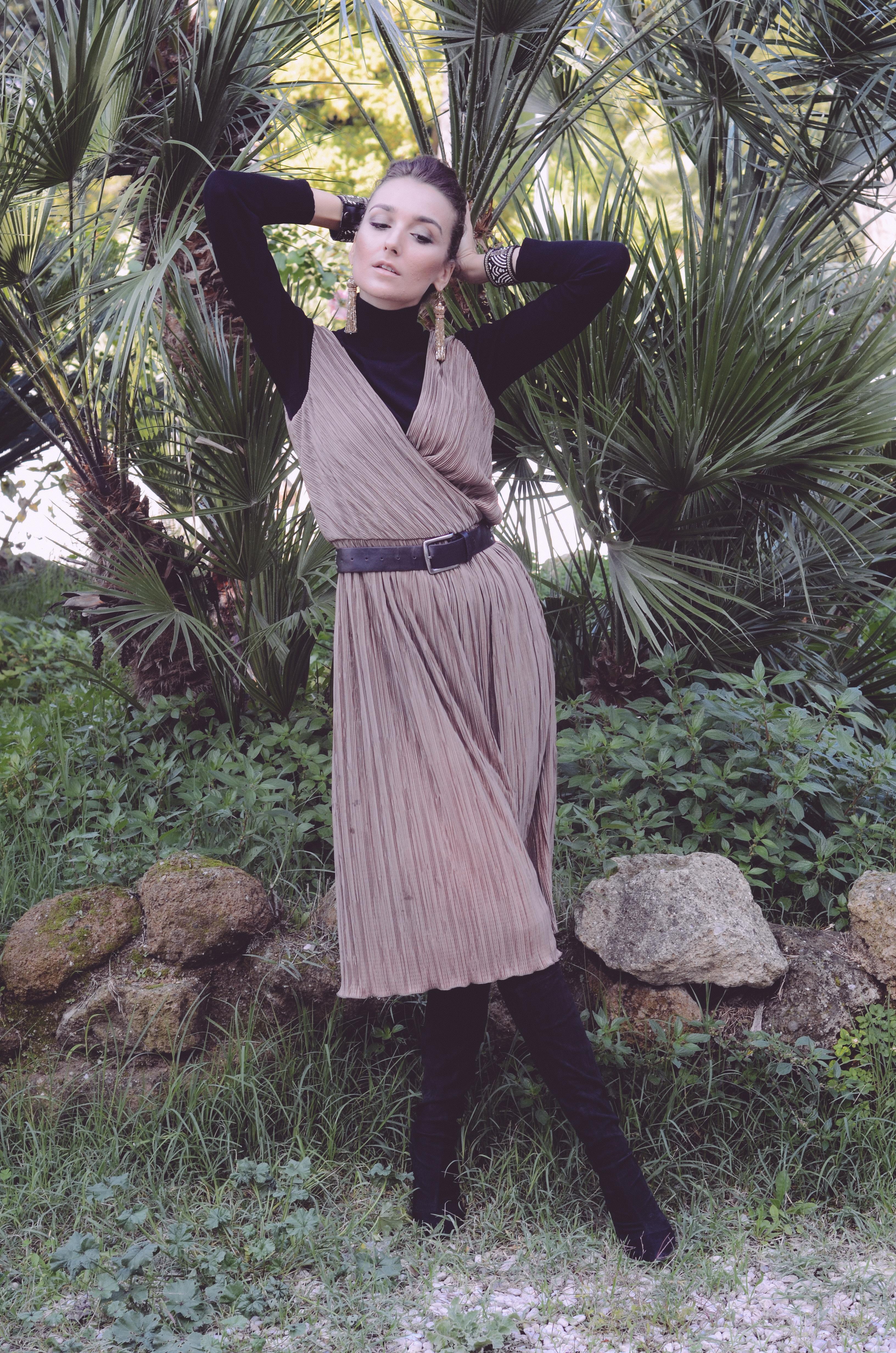 rochia-plisata-nichi-cristina-nichita