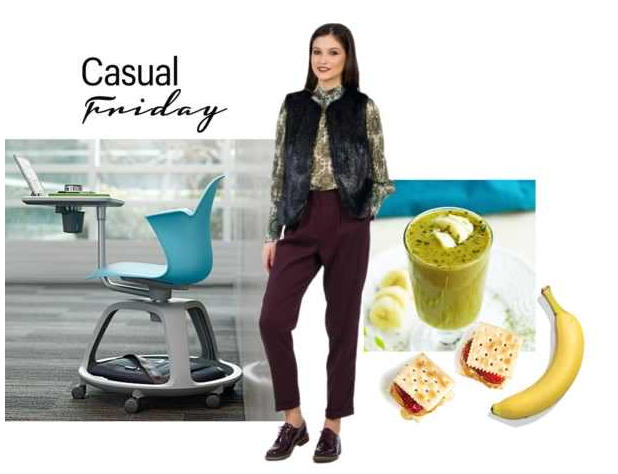 tinuta birou casual friday