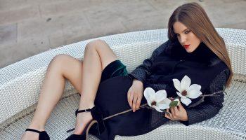palton negru toamna