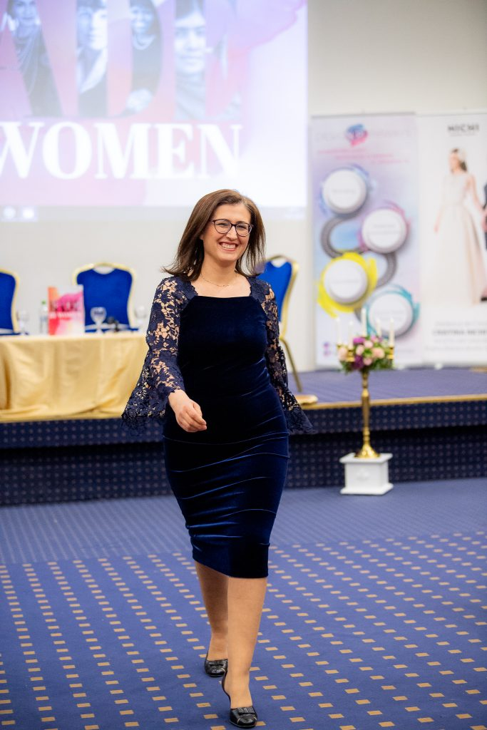 Rochie NAVY VELVE NICHI Cristina Nichita - Made by Woman